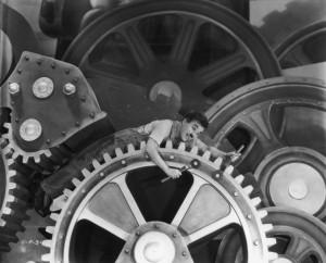 Charles Chaplin a Tiempos Modernos