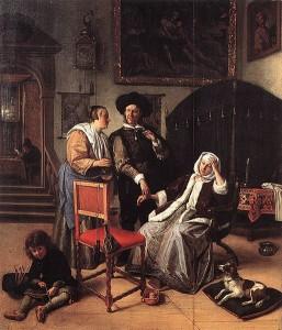 Jan Steen: La visita del metge